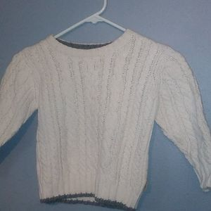 Toddler boy cable knit sweater